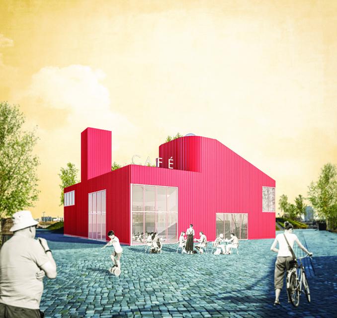 Gemeinschaftshaus Baakenpark, Architekten Arge Hoffmann, Schlüter, Zeh, Köln. Visualisierung: HafenCity Hamburg GmbH