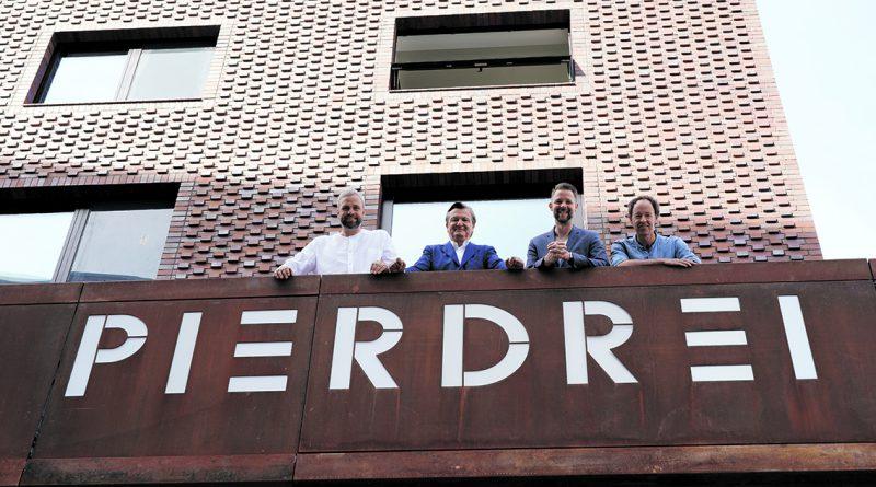 Die Pierdrei-Macher: Sebastian Drechsler, Kai Hollmann, Stefan Pallasch und Gerrit Braun (v.l n re.). Foto: Thomas Hampel