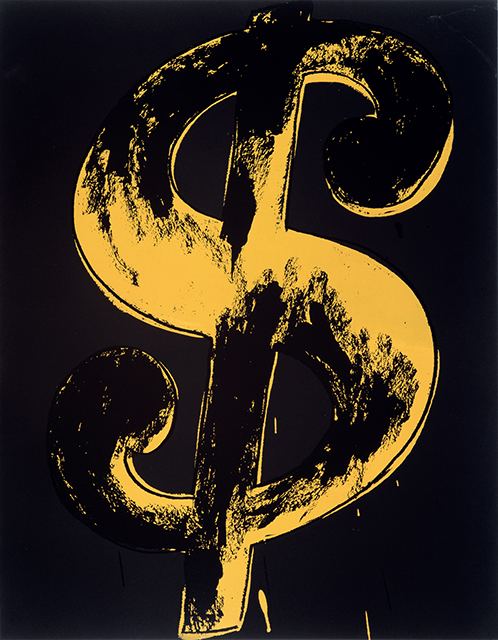 Andy Warhol: Dollar Sign, 1981; Appletree Collection © 2019 The Andy Warhol Foundation for the Visual Arts, Inc. /; Licensed by Artists Rights Society (ARS), New York