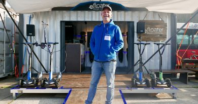 """""""Endlich kann es mit dem Markt für E-Scooter auch in Deutschland losgehen. Wir sind alle happy"""": Oliver Risse, 45, Start-up-Gründer und Chef des E-Scooter-Unternehmens Floatility. Foto: Wolfgang Timpe"""