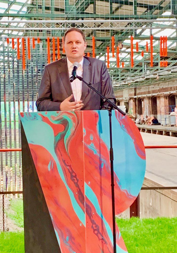 "Dr. Carsten Brosda, Senator für Kultur und Medien: ""A free opened society experienced with digital technics ..."" Foto: Wolfgang Timpe"