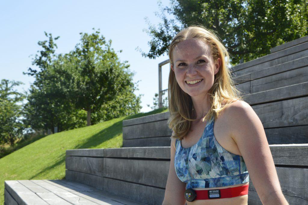 Outdoor Training in der Hafencity: Sport im Baakenpark mit Trainerin Sarah Schrader.