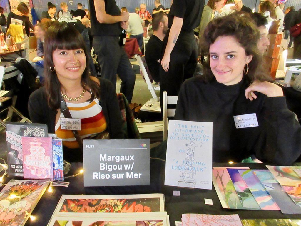 Die beiden Französinnen Margaux Bigou und Mari Campistron, die dem Künstlerkollektiv Riso sur Mer angehören, arbeiten als Illustratorinnen. Foto: Dagmar Leischow