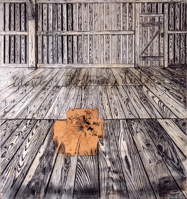 Anselm Kiefer. Glaube, Hoffnung, Liebe, 1973. 298,5 x 281 cm, Kohle, Collage, Hasenblut auf Rupfen, Staatsgalerie Stuttgart, erworben mit Lotto-Mitteln 1982. Copyright: Atelier Anselm Kiefer