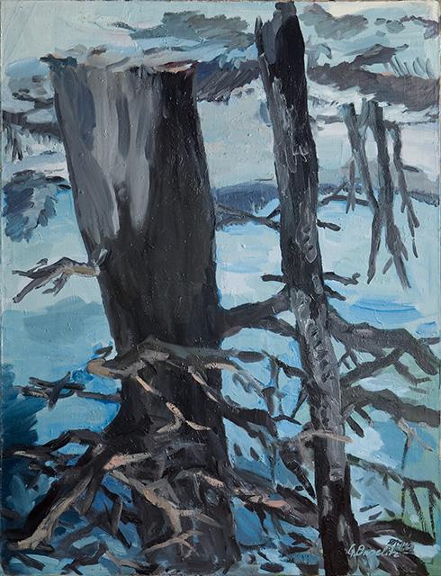 Georg Baselitz. Der Wald auf dem Kopf, 1969Öl auf Leinwand; 250 x 190 cmMuseum Ludwig, Köln, Schenkung Sammlung Ludwig, 1976Copyright: Georg Baselitz 2019