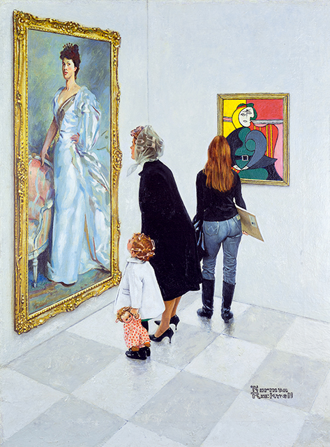 Norman Rockwell: Picasso vs. Sargent, 1966; National Museum of American Illustration, Newport RI; © The Norman Rockwell Family Agency