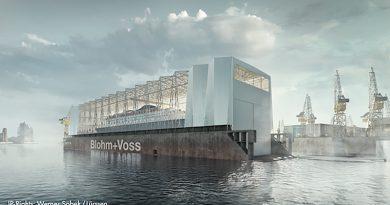 Die Errichtung der Hallenkonstruktion soll Ende 2020 abgeschlossen sein. © Werner Sobek / Lürssen
