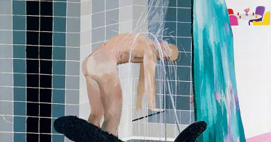 Schöne Männer, helles Licht, faszinierendes Wasser: David Hockney: Man in Shower in Beverly Hills; 1964; Tate. © David Hockney, Foto: Tate