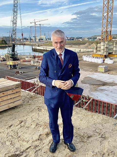 """Prof. Jürgen Bruns-Berentelg: """"Die HafenCity hat sich in den vergangenen 20 Jahren vom Masterplan emanzipiert."""" © Wolfgang Timpe"""