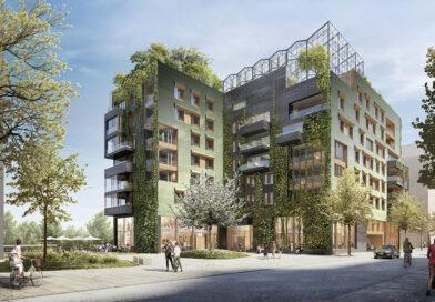 """Sonnenernte an den Südfassaden, Obst- und Gemüseanbau auf dem Dach. Architekt Joachim Eble: """"Unsere Philosophie ist, dass Gebäude nicht nur beschützen und beherbergen sollen, sondern dass die Oberflächen zum Beispiel in Kontakt mit Erntemöglichkeiten funktionieren sollen."""" © Eble Messerschmidt Partner Architekten und Stadtplaner PartGmbB, Tübingen"""