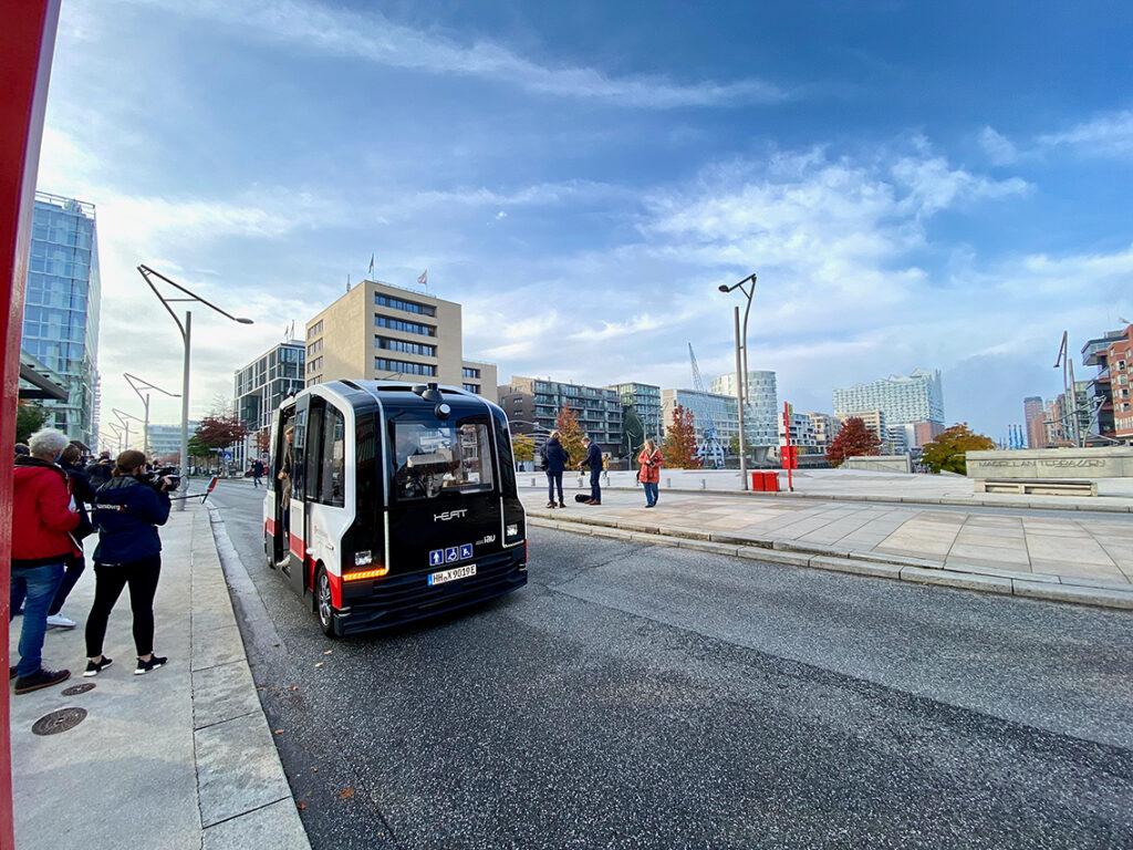 """Autonom fahren mit Heat: """"Wir wollen der Welt im auf dem ITS-Weltkongress als guter Gastgeber zeigen, dass Hamburg Vorreiter in Sachen digitaler moderner Mobilität ist. © Wolfgang Timpe"""