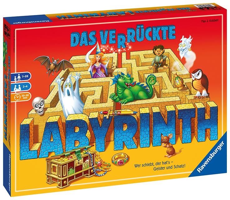 Der Klassiker unter den Gesellschaftsspielen: Das Verrückte Labyrinth von Ravens- burger zählt immer noch zu den beliebtesten  Spielen bei Grundschülern. © Ravensburger