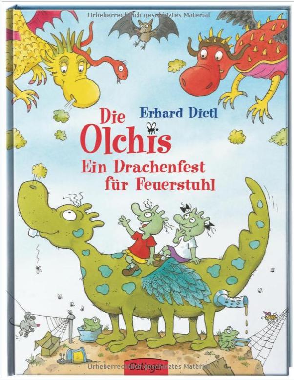 Viele Geschichten über Die Olchis von Erhard Dietl aus dem Oettinger Verlag sind für verschiedene Altersklassen erhältlich und gibt es auch speziell für Leseanfänger. Online-Angebot unter www.framily.de und www.olchies.de © Verlagsgruppe Oetinger Service GmbH