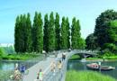 Neue Nähe: Die Fahrrad- und Fußgängerbrücke wird künftig die HafenCity und Rothenburgsort direkt mit dem Entenwerder-Park verbinden.© HafenCity Hamburg GmbH | SMP