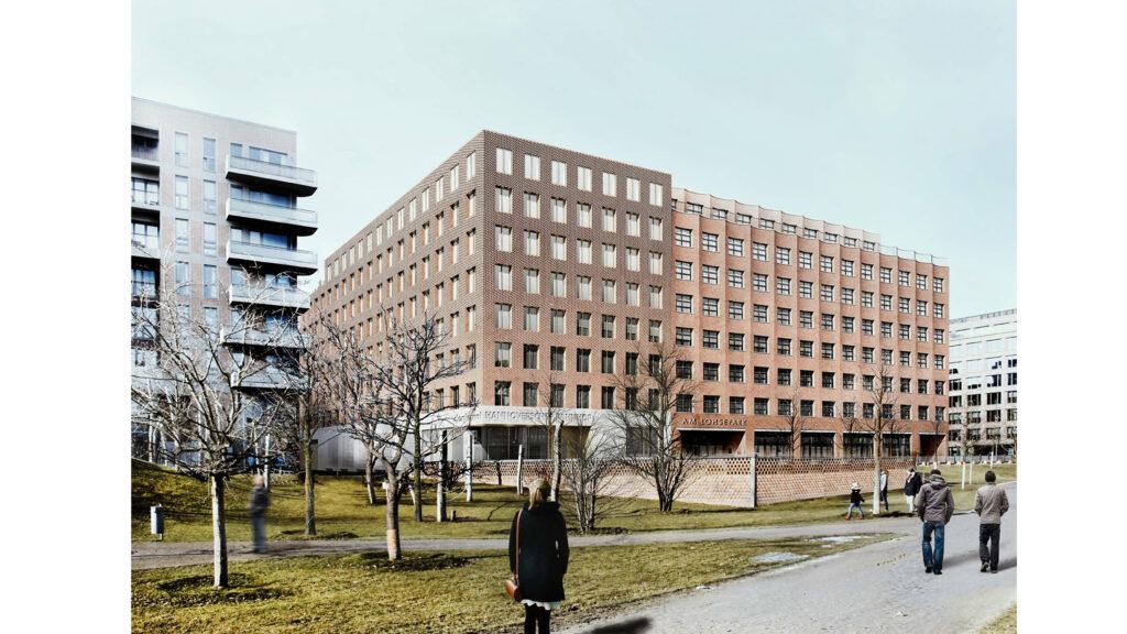 Visualisierung des Dokumentationszentrums als Teil des denk.mal Hannoverscher Bahnhof im Lohsepark, HafenCity, das 2023 eröffnen soll. © Wandel Lorch Architekten