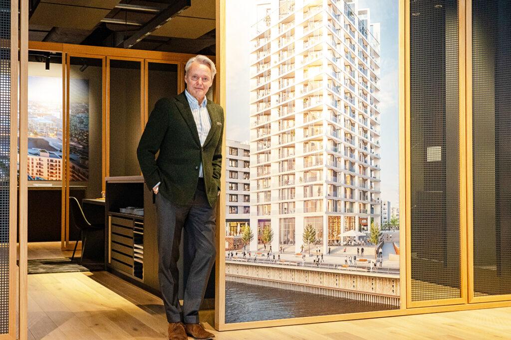 """Björn Dahler ist Geschäftsführender Gesellschafter DC Developments – der Projektentwickler baut u.a. die Luxuswohntürme """"Fifty9"""" und """"The Crown Strandkai"""" auf dem Strandkai sowie zweite weitere Premium-Wohnhäuser im südlichen Überseequartier der HafenCity. © DC Developments"""