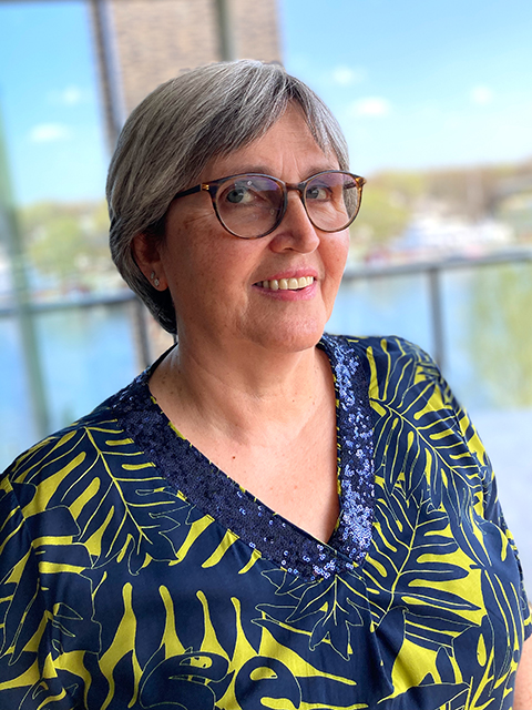 Christine Simon-Noll, 1. Vorsitzende Flüchtlingshilfe HafenCity e.V. © Privat