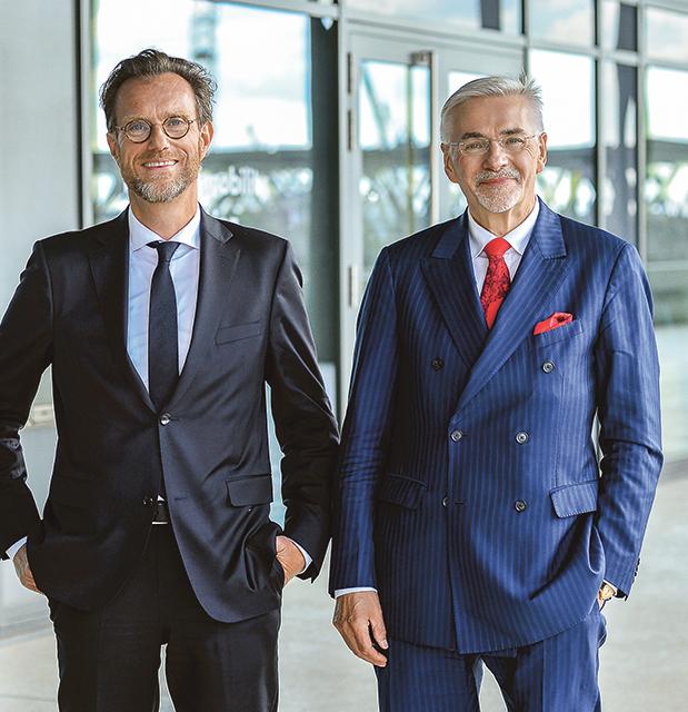 Prof. Jürgen Bruns-Berentelg (r.) und Dr. Andreas Kleinau © Bina Engel | HafenCity Hamburg GmbH