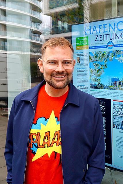 """James Robert """"Jimmy"""" Blum ist Kaufmann, führt seinen Laden """"Jimmy"""" im Schanzenviertel und ist für die FDP gewähltes Mitglied der Bezirksversammlung Hamburg-Mitte und leitet dort u.a. als Vorsitzender den Ausschuss für Wochenmärkte. Der studierte Textilbetriebswirt bewirbt sich für die FDP Hamburg um ein Bundestagsmandat bei der Wahl im September. © Wolfgang Timpe"""