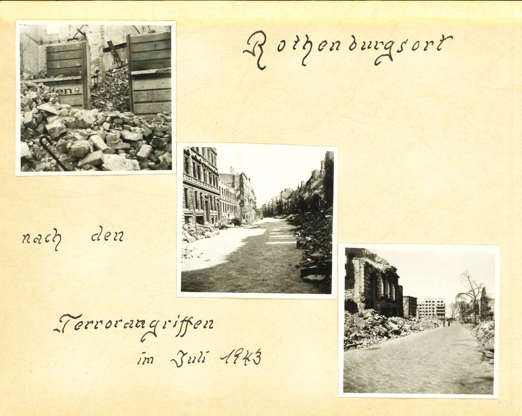 Bilder vom Mühlenweg (auf einem Foto ist das Postamt 27 zu sehen, das Gebäude steht noch). © Familienbesitz