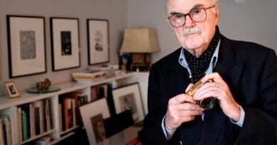 Der Fotograf F. C. Gundlach, aufgenommen am 01.07.2016 in Hamburg in seiner Wohnung kurz vor seinem 90. Geburtstag. © picture alliance/dpa | Axel Heimken