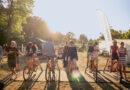 Futur-2-Radeln für Festival-Energie: Es ist das Ziel, die Öko-Bilanz zu optimieren. 2019 wurden 26 Gramm Müll pro Kopf produziert, 124 kWh Strom wurden vor Ort erzeugt und verbraucht. Insgesamt hatte das Festival einen CO2-Ausstoß von 23,9 Tonnen. Das gilt es zu unterbieten. © Futur 2 Festival
