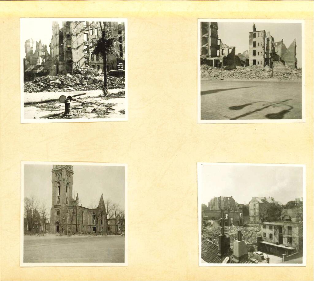 Bilder vom Röhrendamm und der Vierländer Straße (der Kirchturm ist stark gekürzt erhalten geblieben). © Familienbesitz