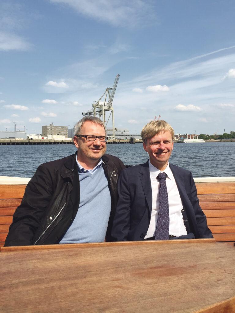 """Die beiden """"K's"""" von Hamburg, Johannes Kahrs, SPD (li.), und Rüdiger Kruse, CDU: Der nächste Deutsche Bundestag braucht wieder so engagierte Mitglieder für Hamburg. © PRIVAT"""