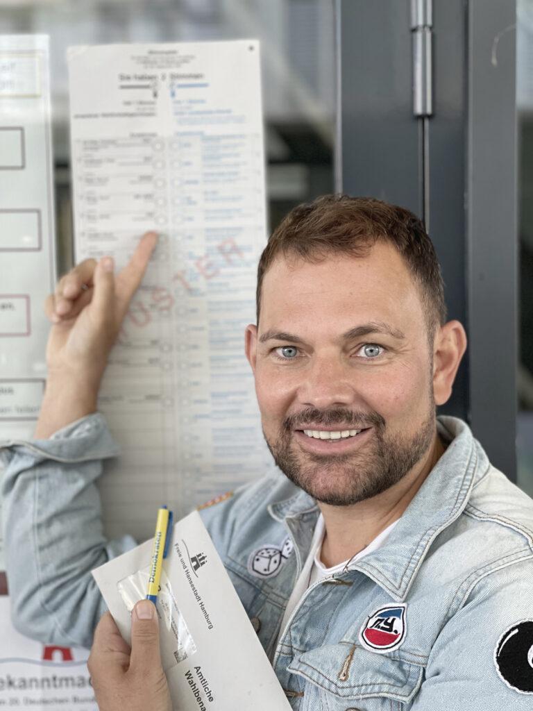 """Jimmy Blum, 14,8% Erststimmen HC: """"Ich habe eines der besten Ergebnisse für die FDP eingefahren. Das bestätigt meinen Wahlkampf."""" © Privat"""