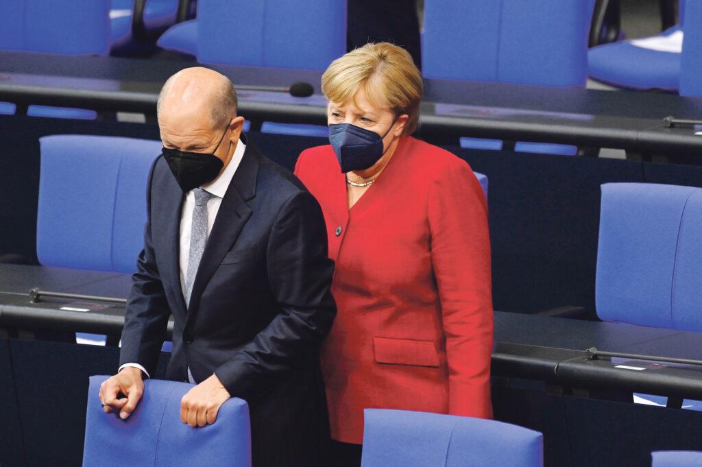 Wachwechsel mit Angela Merkel? Schafft es Vizekanzler Olaf Scholz als Frontmann ins Kanzleramt? © Picture Alliance   Frederic Kern