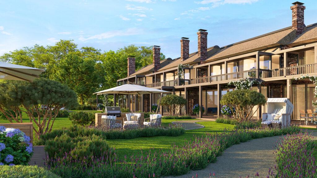 Die Strandvillen der Weissenhaus Residences umfassen sechs Wohnungen  mit jeweils 79,1 m² bis 162 m² und Preisen von 1,75 bis 6 Millionen Euro. © Weissenhaus Residences